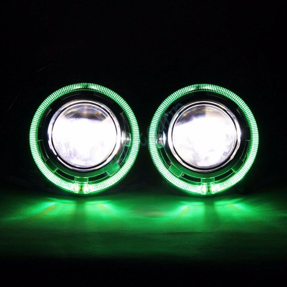 Bluetooth Wirless RGB Angel Eyes Cover Car LED LED - Ավտոմեքենայի լույսեր - Լուսանկար 2