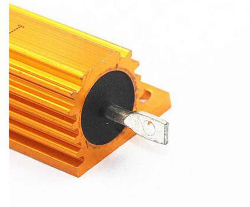 Coque en aluminium de résistance en métal de puissance de 1ohm/2ohm/4 ohm/8ohm 10ohm 50 W Watt pour la charge factice d'essai d'ampli de tube 1R 2R 4R 8R 10R