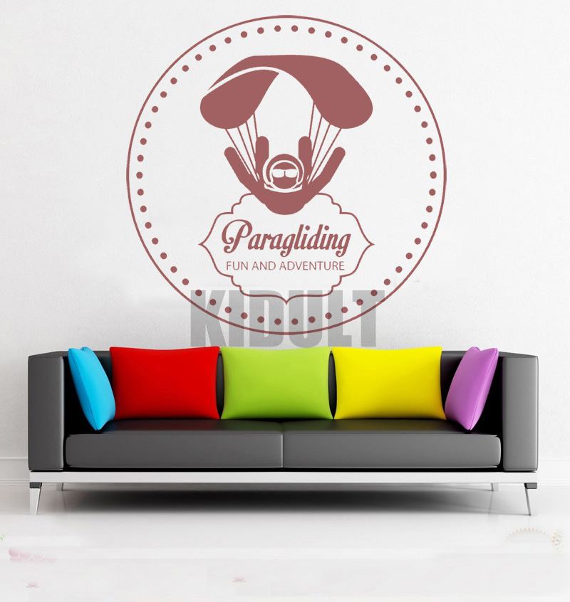 Creative Wall Decals Paragliding Adventure Extreme Sports