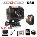 SOOCOO S60 Sport Action Camera Anti-Shock Waterproof Wifi NTK96655 1080P Full HD 170 Degree Lens Wireless Remote Control