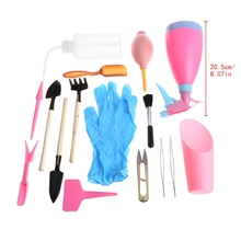 21Pcs Mini Gardening Hand Tools Set Succulent Plants Watering Bottles Miniature potting tools Cans