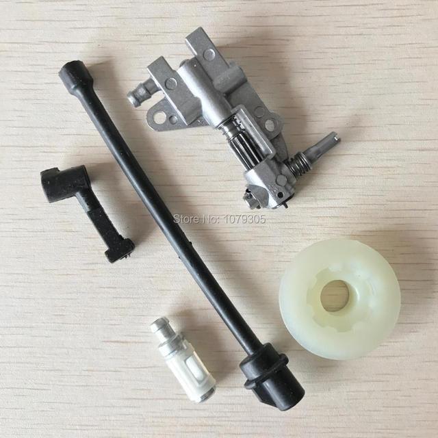 Olie Pomp Filter Pijp Slang Lijn worm Kit Voor Chinese 45CC 52CC 58CC 4500 5200 5800 Kettingzaag Onderdelen