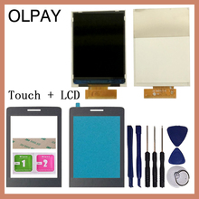 """OLPAY 2.8"""" New Original Touch Screen For Philips Xenium E570 E571 Separate LCD Display With Front panel lens Glass Lens"""