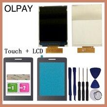 """Olpay 2.8 """"新オリジナルタッチスクリーンフィリップス対応のxenium E570 E571 個別のlcdディスプレイとフロントパネルレンズガラスレンズ"""