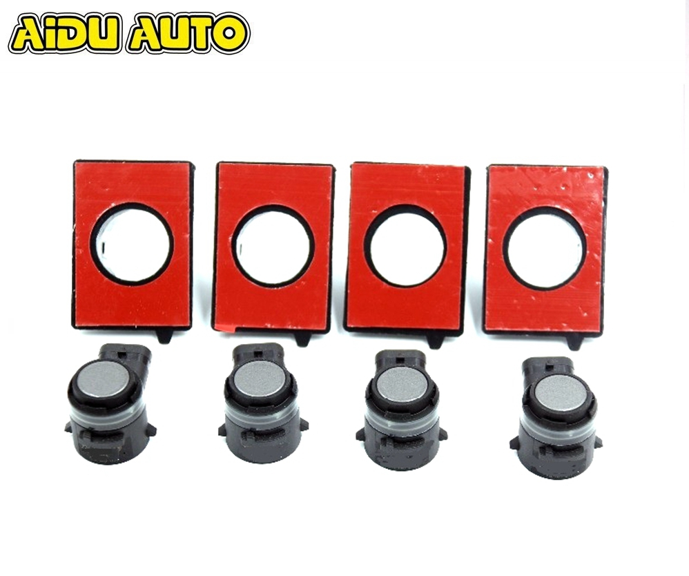 4 PCS Parking Sensors with Sealing Holders For Golf 5 6 7 MK7 Jetta 5 6