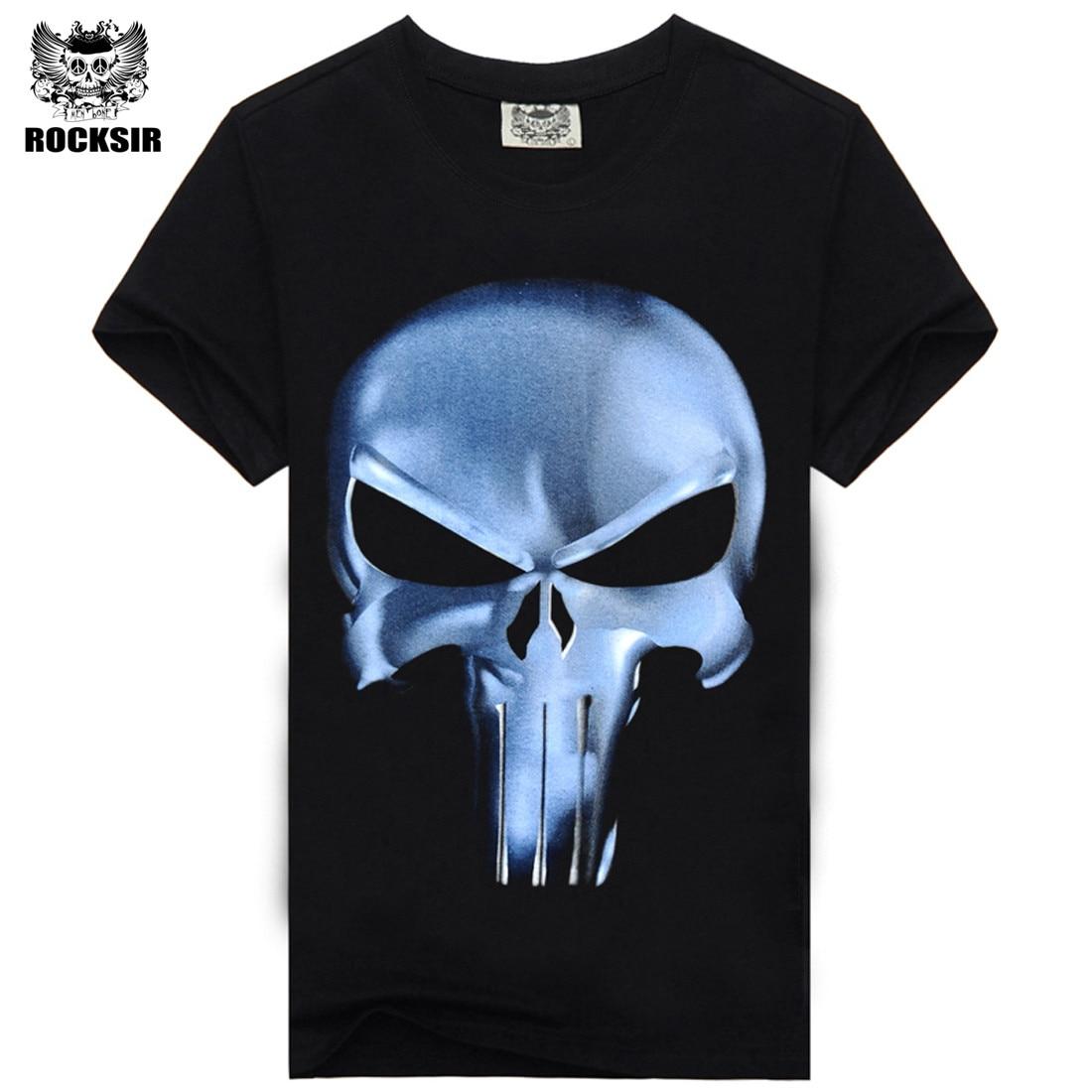 Rocksir punisher t-skjorter for menn t-skjorte Bomullsmote merke - Herreklær - Bilde 4