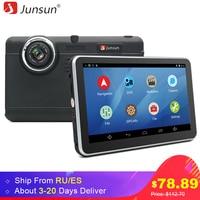 Junsun 7 Inch Car DVR GPS Navigation Android Tablet Pc Bluetooth Wifi Fhd 1080p Camera Recorder
