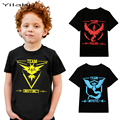 New Pokemon Go Children's T-shirts for Boys Summer Clothes Kids Casual Tee Shirts & Tops Boy Pokemon Clothing 3~7 Years CG121