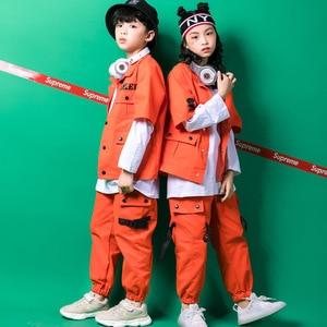 Image 4 - Kids Hip Hop Clothing Girls Boys Sweatshirt Jogger Pants Jazz Dance Costumes Set Ballroom Dancing Clothes Outfits Boys Coats