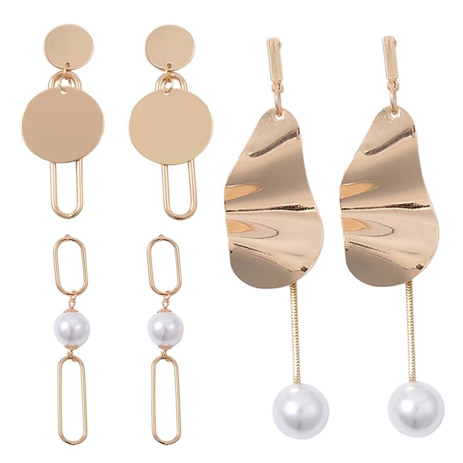 Hot Freshwater Pearl Earrings for Women Gold Color Long Drop Earrings Irregular Za Dangle Earrings Christmas Statement Jewelry in Drop Earrings from Jewelry Accessories