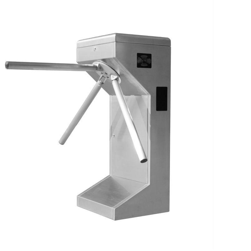 Automatic tripod turnstile Metro station Security rotate passenger exit with RFID reader built-in for access control automatic tripod turnstile with built in electronics and 2 readers remote control panel for access control system