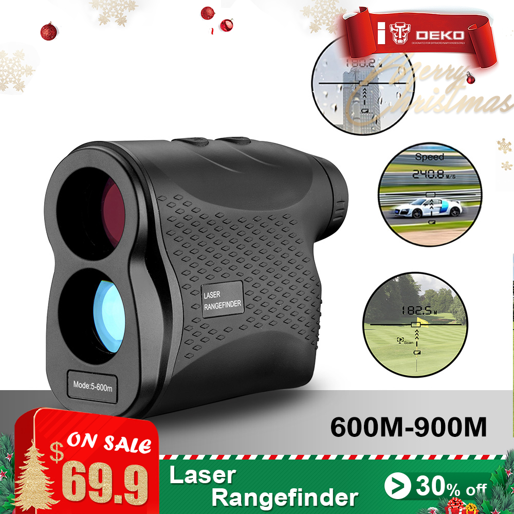 DEKOPRO Laser Rangefinder Golf Hunting Measure Telescope Digital Monocular Laser Distance Meter Speed Tester Laser Range