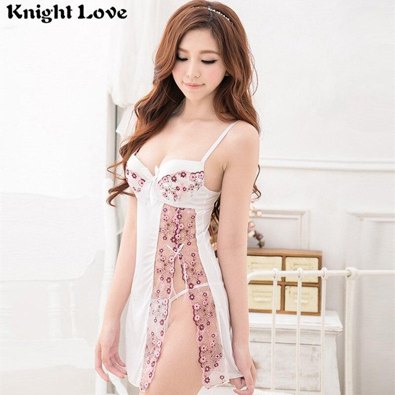 Nachtwäsche Pyjama-Set Frauen Damen Nachthemd Dessous Nachtwäsche V-Ausschnitt