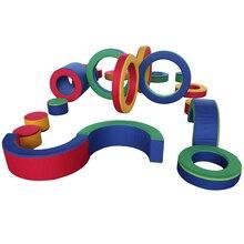 PU Радуга программное обеспечение 19 комплектов детская мягкая игрушка завод набор для детской площадки YLW-INA171018