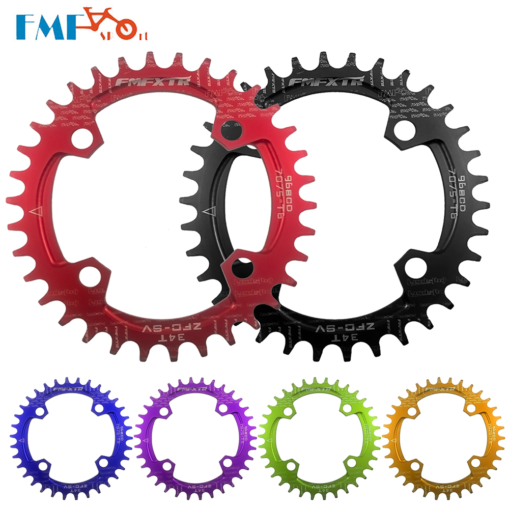 FMFXTR 96BCD Bicycle Chainwheel Round MTB Bike Crank Wheel 32T 34T <font><b>36T</b></font> 38T <font><b>Sprocket</b></font> Chainring Mountain Bicycle Parts image