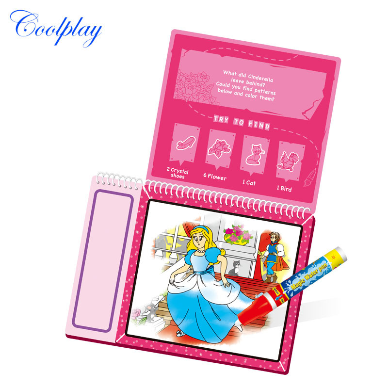 Coolplay Drawing Toys Fairy Princess Coloring Books For Kids Baby Doodle Cardboard Educational