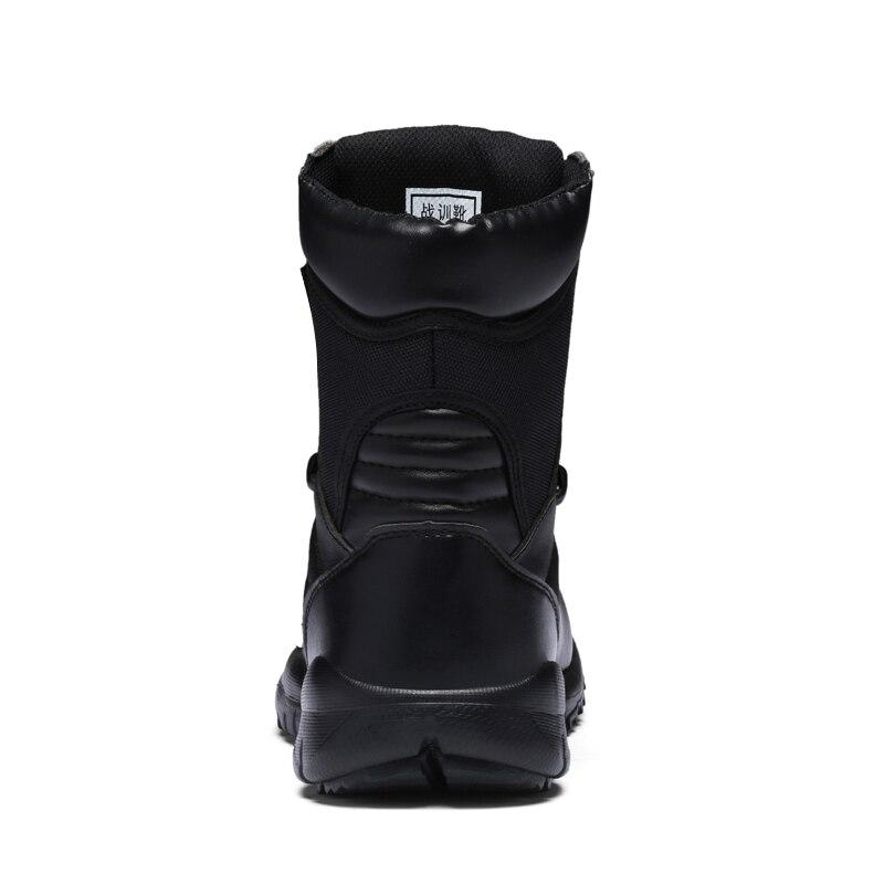 Plate Armée À Martin Mens Désert Haute forme Combat Luxe Automne Bottes Printemps Mode Chaussures De Lacets Noir Respirant Qualité Mâle CBdoeWQrxE