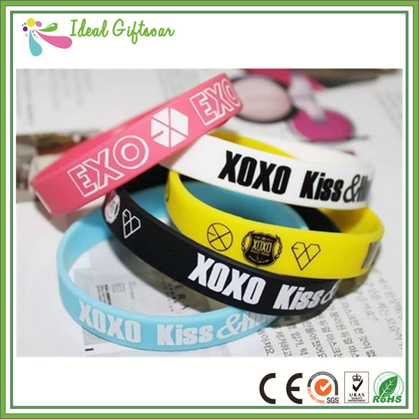 Best Ing Colorful Printing Silicone Wristband Customized Logo Text Bracelets For Events In Charm From Jewelry Accessories