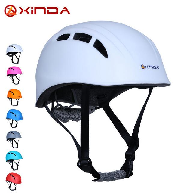 Xinda outdoor rock climbing downhill helmet speleology mountain rescue equipment to expand helmet helmet wading safety helmet multifunctional professional handle pulley roller gear outdoor rock climbing tyrolean traverse crossing weight carriage fit