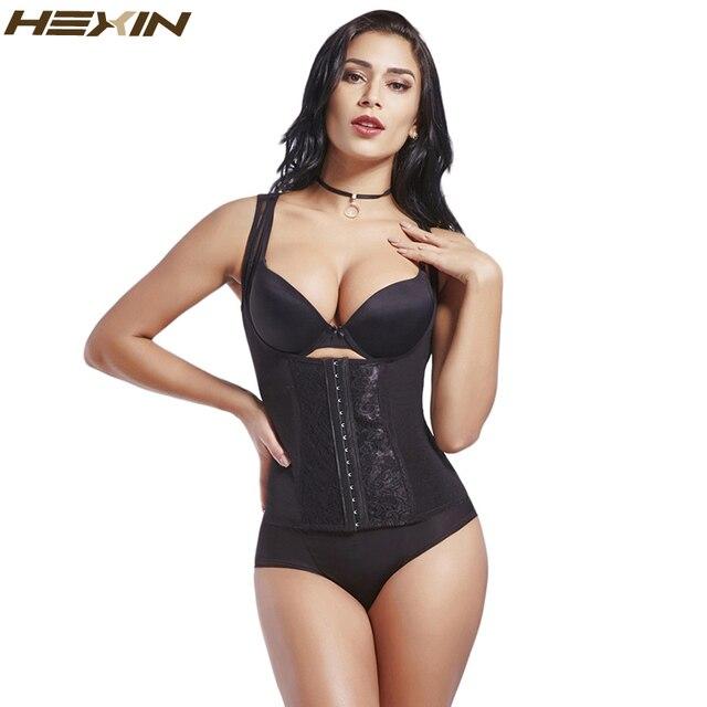 7c050824fa HEXIN Steel Boned Underbust Waist Trainer Corset Black Trainer Vest Corpete  Feminino Plus Size Corsets Women Bodyshaper Bustier