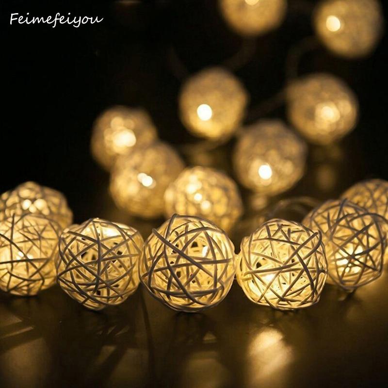 Led String Ball Lights Battery Operated Warm White Colorful Takraw Sepak Takraw Light String Thanksgiving Decor String Light
