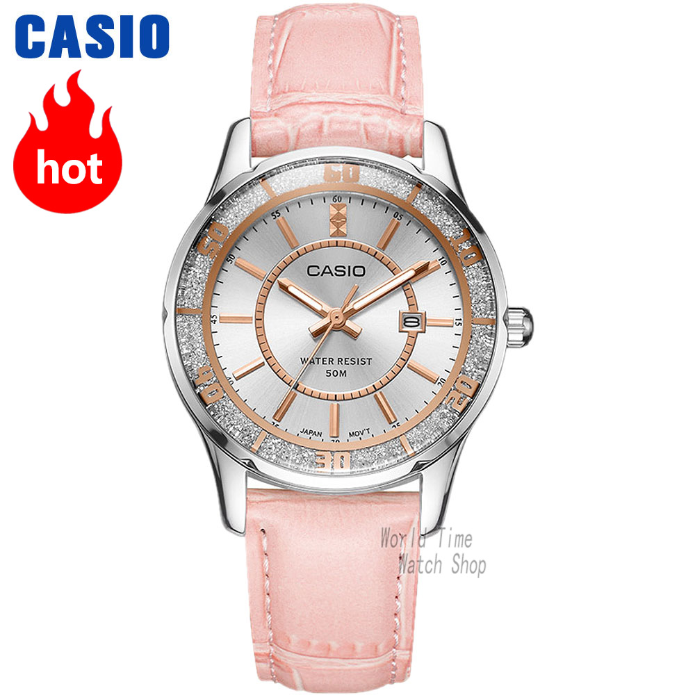 лучшая цена Casio watch Analogue Women's quartz watch Elegant and charming waterproof pointer watch LTP-1358