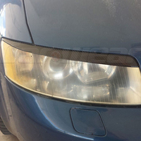 Car Styling Carbon Fiber Headlight Eyelids Eyebrows for Audi A4 B6 2001 2004