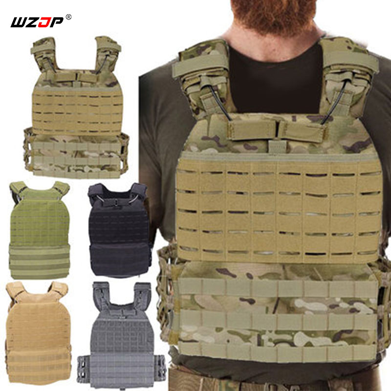 WZJP High quality Oxford Tactical Molle Vest CS Wargame Hunting Vest Outdoor Military Body Armor Wear