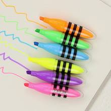 6PCS/Lot Creative Stationery Bee Highlighter Novelty Products Colorful Markers Highlighters Escolar Papelaria Supplies