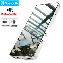 Original metal Bluetooth MP3 player lossless HiFi MP3 Music player with High Quality Sound out Speaker E book FM radio Clock