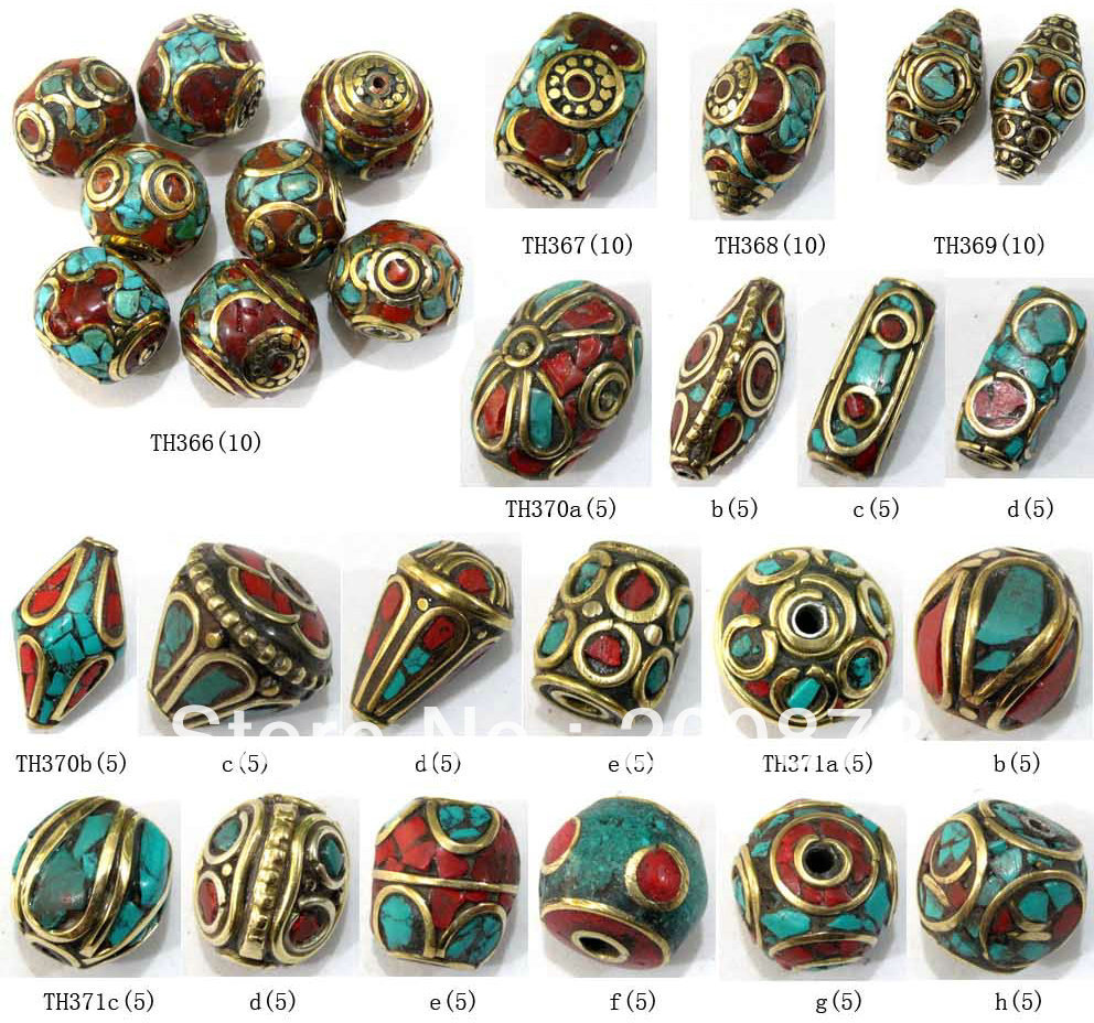 Mix Wholesale 100PCS Nepal Handmade Beads Many Designs Best Offer Free Shipping