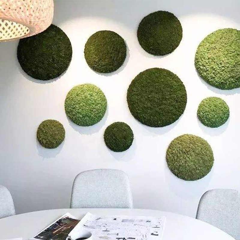 Simulasi Kualitas Tinggi Hijau Tanaman Abadi Bunga Palsu Lumut Rumput Rumah Ruang Tamu Dekoratif Dinding DIY Bunga Mini Aksesoris