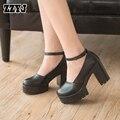ZZYJ Factory Outlet primavera sunmer outono calçados casuais grossas das mulheres sapatas das senhoras bombas de sapatos de plataforma thin saltos hihg T998