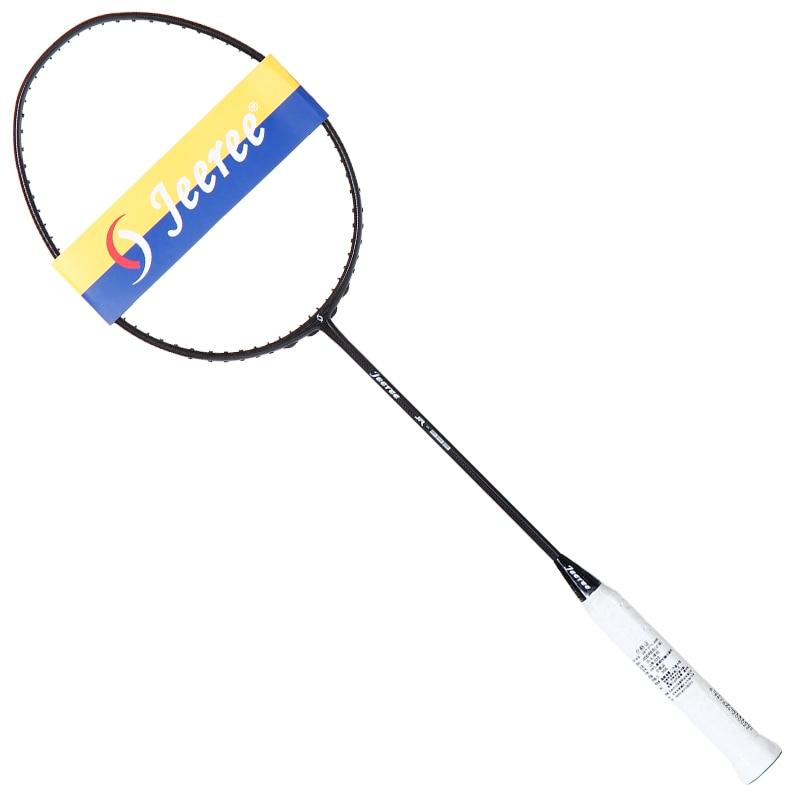 JEEREE genuine light 90g badminton racket 100% carbon high rebound offensive and defensive 67.5cm badminton racket with freegif