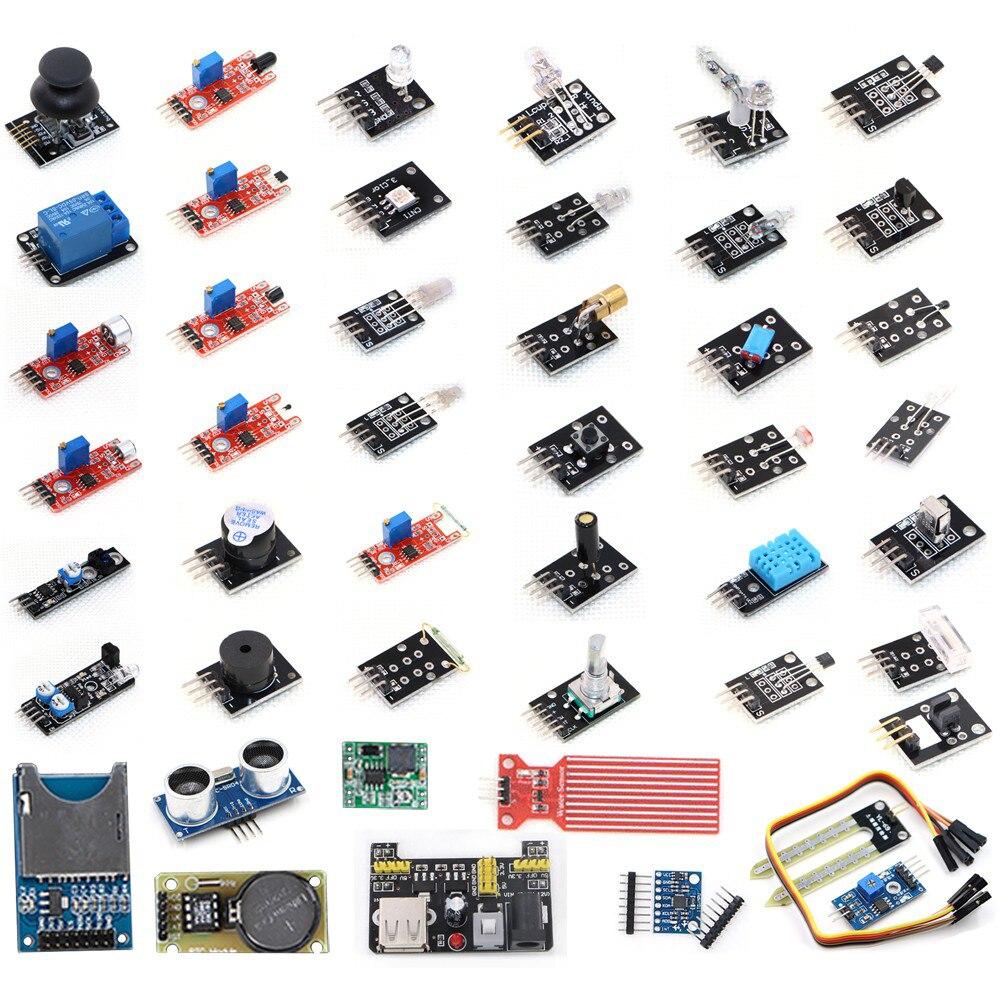 2019 Hot Sale 45 In 1 Sensor Module Starter Kit For UNO R3 Board, Better Than 37 In1 Sensor Kit ( Without Plastic Box)