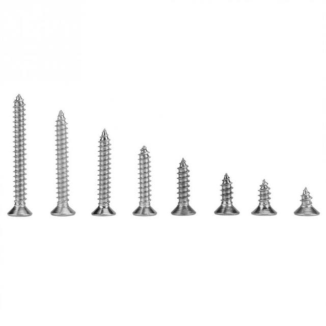 200Pcs/Lot Stainless Steel M4  Self Tapping Screws Combination Flat  Tools Kit
