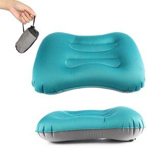Image 2 - Outdoor Travel AirหมอนBeach InflatableเบาะรถRestเดินป่าInflatableแบบพกพาพับคู่ด้าน