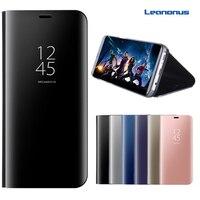 Leanonus Clear View Window Phone Cases For Samsung Galaxy J330 J530 J730 J3 J5 J7 2017