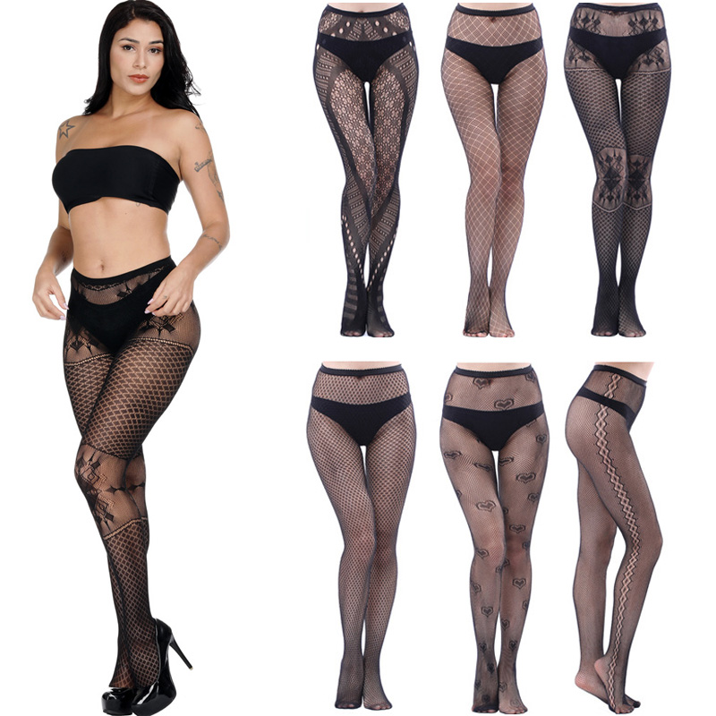 Luckymily Sexy Women's Lingerie Stockings Garter Belt Fishnet Tights Transparent Pantyhose Thigh Stockings Long Sexy Stockings