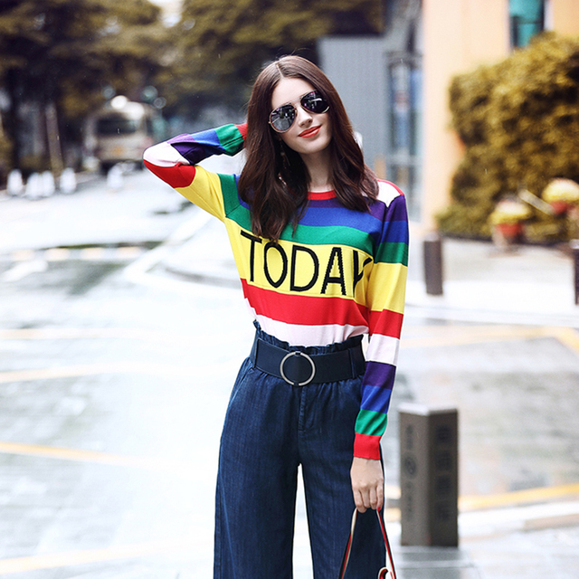 Kawaii Colorful Viscose Sweater