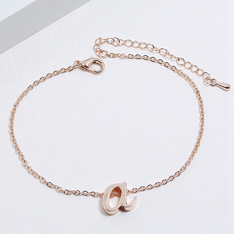 Letter Bracelet Bangle Jewelry Gifts Adjustable Gold/silver-Color Women Fashion