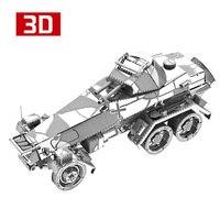 2018 3d金属ナノパズルsd。Kfz.232 6-Wheeled重い装甲車を組み立てるモデルキットI22217 diy 3dレーザーカットジグソーパズルのおもち