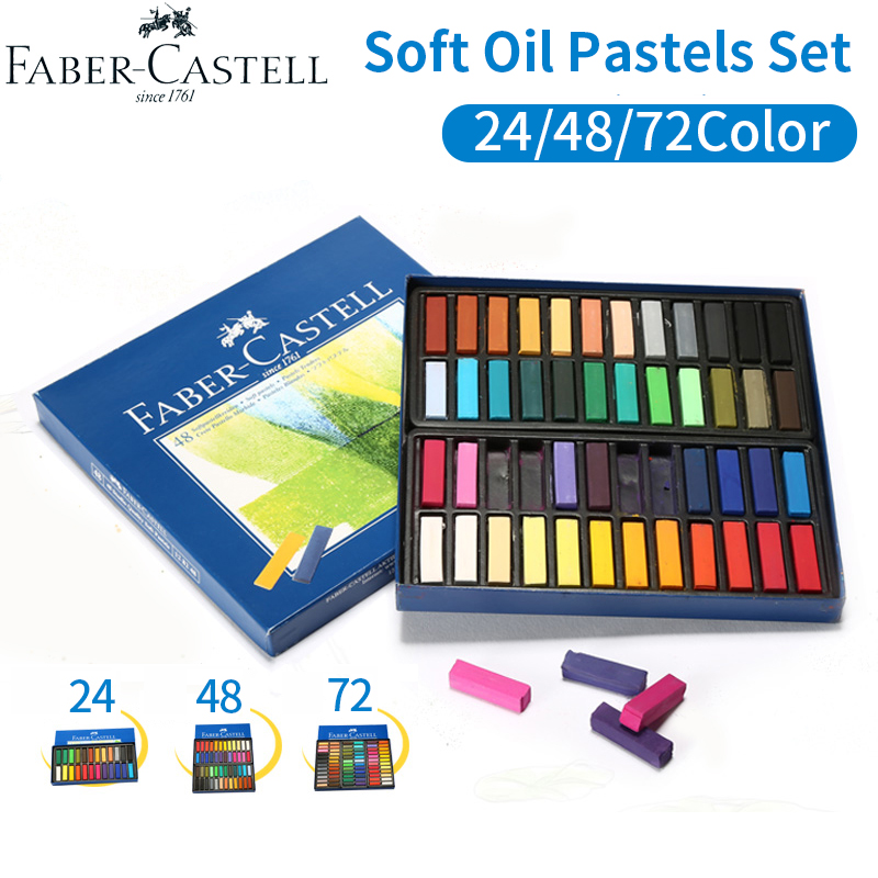 Faber Castell Soft Oil Pastels Set 24/48/72 Colors Oil Painting Pastel Crayon Professional  Artist Drawing Art Supplies