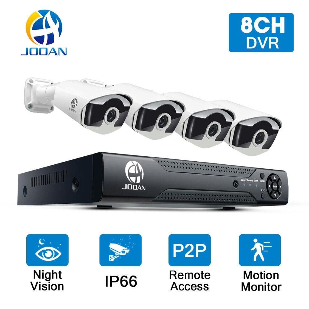 JOOAN Système de Caméra de Sécurité 8CH CCTV Système 4 pcs * 720 P 1280TVL IR Caméra Extérieure de Sécurité 1080N CCTV DVR Vedio Surveillance Kit