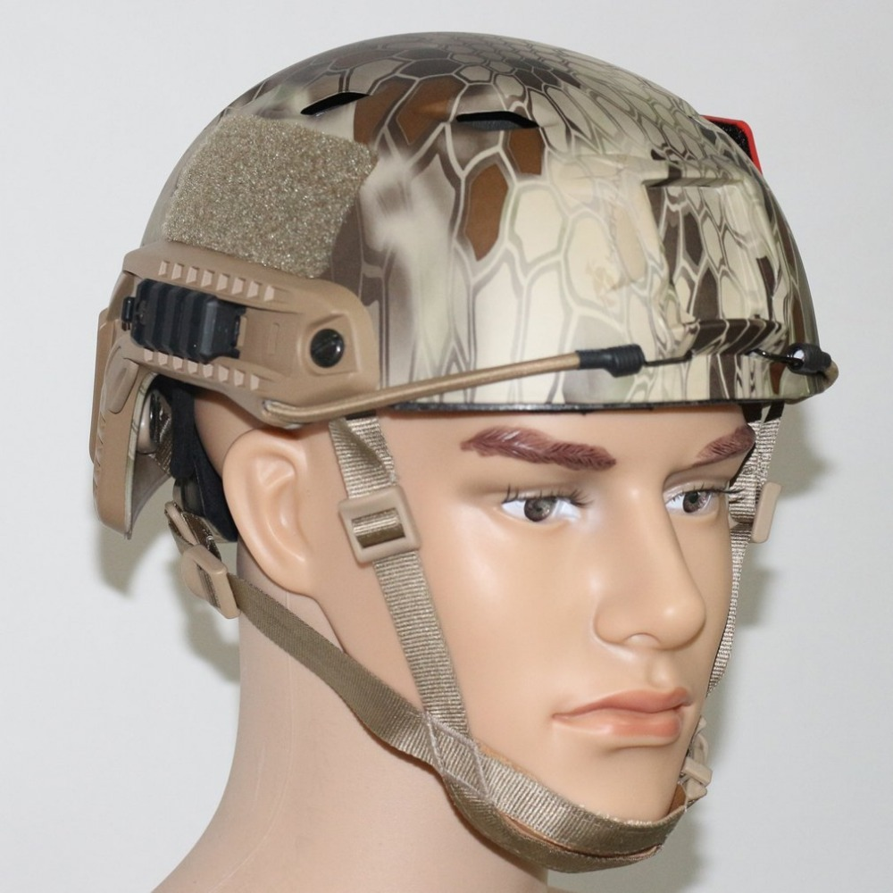 VILEAD Fast Python Pattern PJ Type Protective Military Tactical Helmet Pararescue Jump Helmet Multifunction Outdoor CS Helmets ccgk double layer m1 helmet steel and abs safety helmet military tactical protective equipment outdoor cs survival collection
