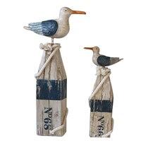 Mediterranean American Antique Vintage wind, seagull seabirds, resin, craft, imitation wood, etc.