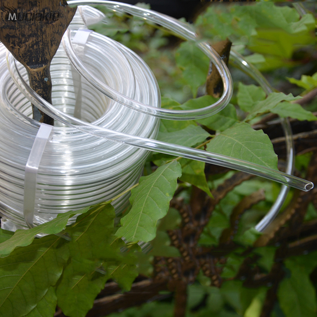 MUCIAKIE 20 Meters 4/7mm Transparent Hose for Garden Watering Irrigation Great for Home Micro Drip Soft Pipe