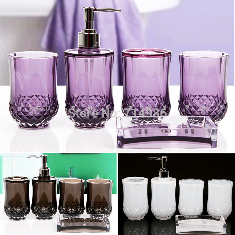 Cheap Elegant Cylindrical Crystal Bathroom Set Household Family Bath Wash Accessories  Sets In Bathroom Accessories Sets From Home U0026 Garden On Aliexpress.com ...