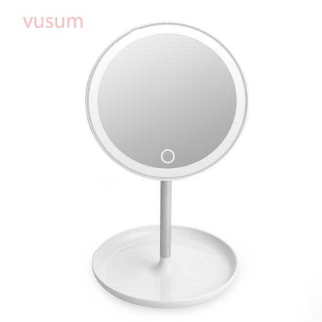 led touchscreen spiegel voor professionele make cosmetische spiegel 32 led verlichting schoonheidssalon workstation verstelbare 180
