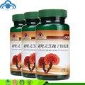 3 botellas de 300 mg * 60 cápsulas/botella de reishi lingzhi ganoderma lucidum polvo de esporas cápsula de productos para la diabetes